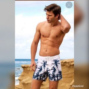 NWT!! Sauvage White Palms Surf Shorts!!